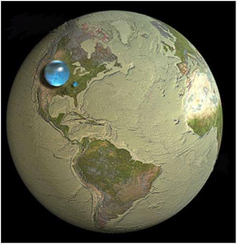 map of world with water